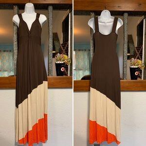 Boston Proper Maxi Dress Twisted Top Women Small